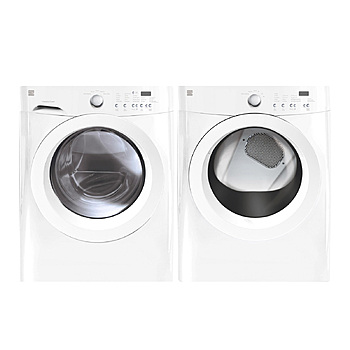 BF Kenmore 3.7 cu ft washer 7 cu ft dryer white
